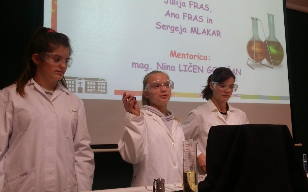 Izjemni dosežki srebrnega sijaja na državnem tekmovanju iz kemijskega eksperimenta