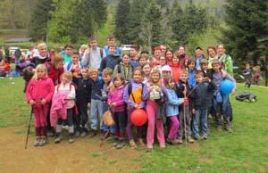 Srečanje mladih planincev Pomurja in Podravja na Lovrencu na Pohorju